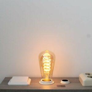 LED kooldraad E27 4Watt dimbaar Edison amber