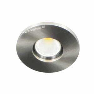 LED spot GU10 COB 5Watt rond NIKKEL IP65 dimbaar