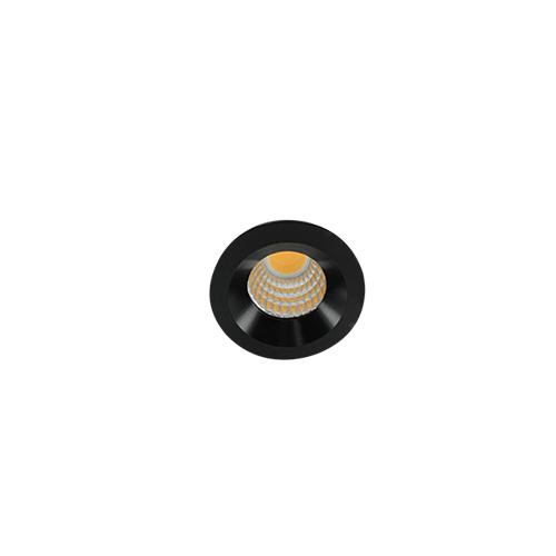 LED mini spot 38mm 3Watt rond ZWART dimbaar