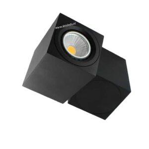 LED opbouwspot Malta 5Watt vierkant draaibaar ZWART dimbaar