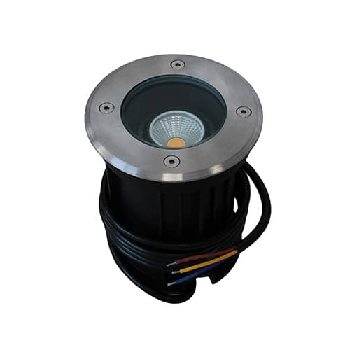 LED grondspot GU10 3Watt COB rond RVS dimbaar IP65