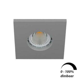 LED spot GU10 6Watt vierkant GRIJS IP65 dimbaar