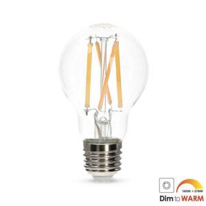 LED filament E27 7Watt A19 dim to warm