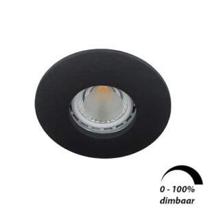 LED spot Calisto GU10 6Watt rond ZWART IP65 dimbaar