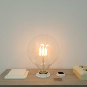 LED filament E27 6Watt dimbaar globe 125mm