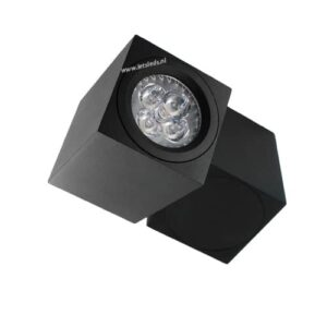 LED opbouwspot Malta 4Watt vierkant draaibaar ZWART dimbaar
