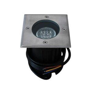 LED grondspot GU10 4Watt vierkant RVS dimbaar IP65