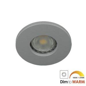 LED spot GU10 7Watt rond GRIJS IP65 dimbaar