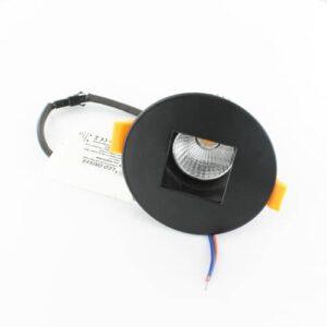LED spot 7Watt rond ZWART dimbaar (set 5st)