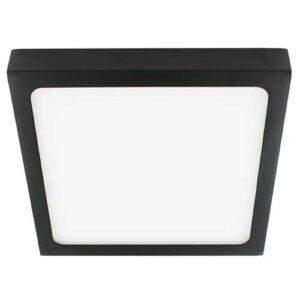 LED plafonniere 15Watt vierkant ZWART 220Volt dimbaar