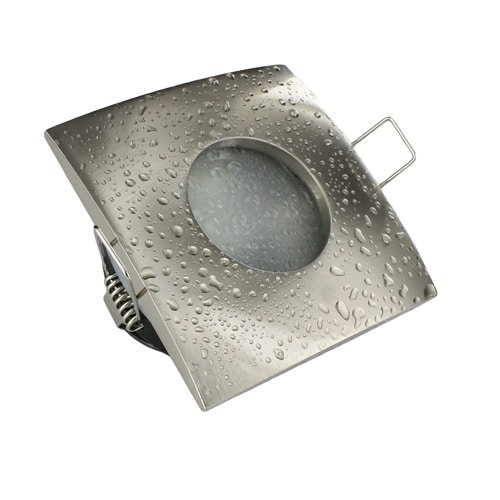 LED spot Calisto MR16 COB 3Watt vierkant NIKKEL dimbaar (12volt)