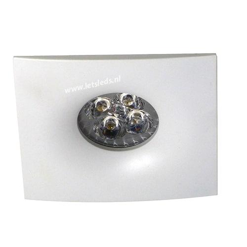 LED spot GU10 4Watt vierkant WIT dimbaar