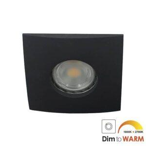 LED spot Calisto GU10 7Watt vierkant ZWART IP65 dimbaar