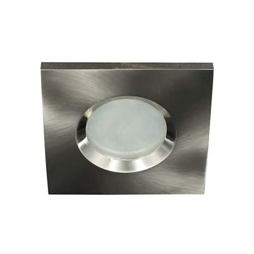 LED lamp armatuur NIKKEL vierkant IP65 waterdicht