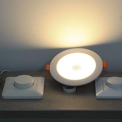 LED inbouwspot WIT 5Watt rond microwave sensor