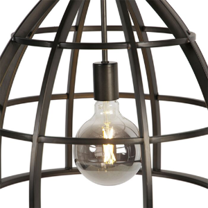 Industriële hanglamp SMART zwart smoked glass dimbaar – Arthur 4