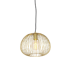 Industriële hanglamp goud - Wire dough