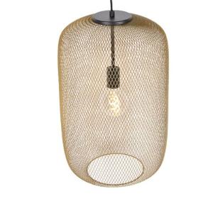 Industriële hanglamp goud - Bliss Mesh
