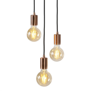 Industriële hanglamp koper - Facil Trio
