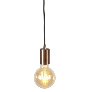 Industriële hanglamp koper - Facil Unus