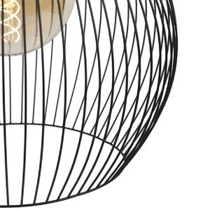 Industriele hanglamp rond zwart 50 cm Dos