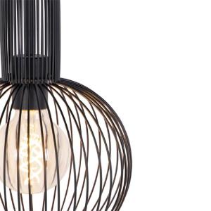 Industriële hanglamp zwart - Wire Whisk 4