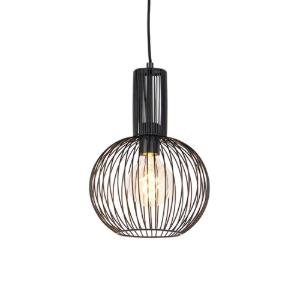 Industriële hanglamp zwart - Wire Whisk 1