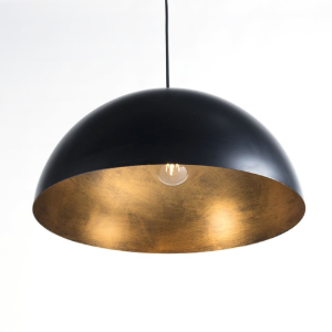 Industriële hanglamp zwart & goud - Magna Eco 2