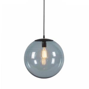Industriële hanglamp zwart grijs globe - Pallon
