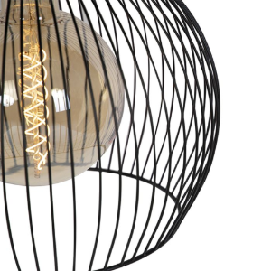 Industriële hanglamp zwart rond 40cm Dos