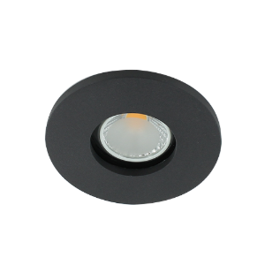 LED spot GU10 COB 5Watt rond ZWART IP65 dimbaar