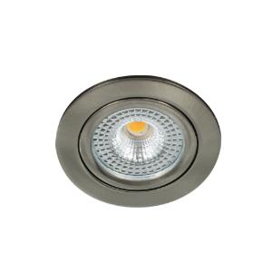 LED spot kantelbaar 5Watt rond NIKKEL IP65 dimbaar D1-1 - Zonder driver