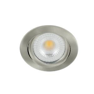 LED spot kantelbaar 5Watt rond NIKKEL IP65 dimbaar D2-2 - Zonder driver