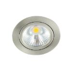 LED spot kantelbaar 5Watt rond NIKKEL dimbaar-D-1