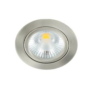 LED spot kantelbaar 5Watt rond NIKKEL dimbaar-D1-1