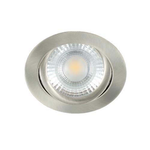 LED spot kantelbaar 5Watt rond NIKKEL dimbaar-D1-2