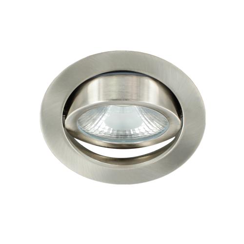 LED spot kantelbaar 5Watt rond NIKKEL dimbaar-D1-3
