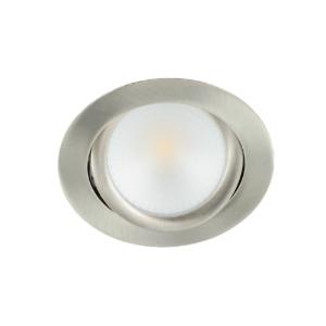 LED spot kantelbaar 5Watt rond NIKKEL dimbaar-D2-2