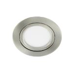 LED spot kantelbaar 5Watt rond NIKKEL dimbaar-D3-1