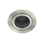 LED spot kantelbaar 5Watt rond NIKKEL dimbaar-D5-1