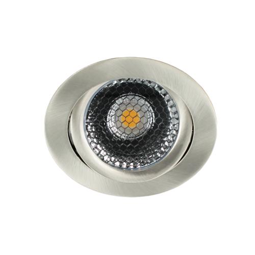 LED spot kantelbaar 5Watt rond NIKKEL dimbaar-D5-2