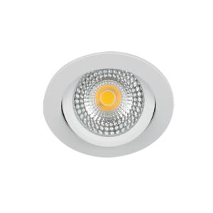 LED spot kantelbaar 5Watt rond WIT IP65 dimbaar D1-2 - Zonder driver