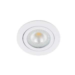 LED spot kantelbaar 5Watt rond WIT IP65 dimbaar D2-1 - Zonder driver