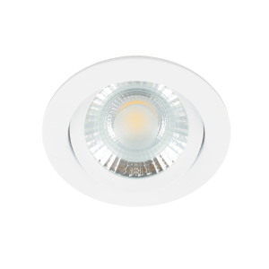 LED spot kantelbaar 5Watt rond WIT dimbaar-D1-2