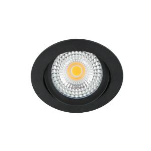 LED spot kantelbaar 5Watt rond ZWART IP65 dimbaar D1-2 - Zonder driver