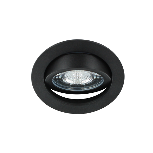 LED spot kantelbaar 5Watt rond ZWART IP65 dimbaar D1-3 - Zonder driver