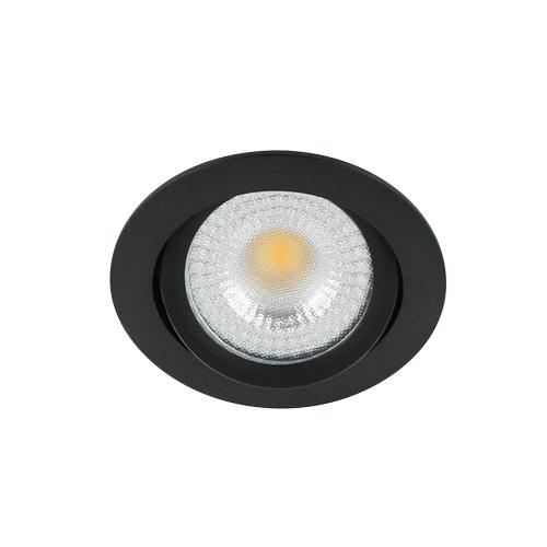 LED spot kantelbaar 5Watt rond ZWART IP65 dimbaar D2-2 - Zonder driver