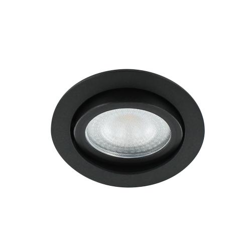 LED spot kantelbaar 5Watt rond ZWART IP65 dimbaar D2-3 - Zonder driver