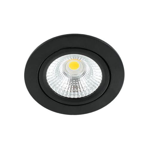 LED spot kantelbaar 5Watt rond ZWART dimbaar-D-1