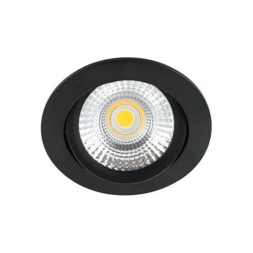 LED spot kantelbaar 5Watt rond ZWART dimbaar-D-2